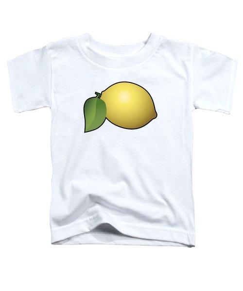 Lemon Fruit Outlined Toddler T-Shirt by Miroslav Nemecek