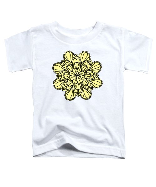 Lemon Lily Mandala Toddler T-Shirt by Georgiana Romanovna