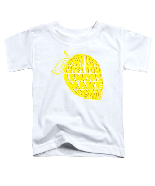 Lemonade Toddler T-Shirt by Priscilla Wolfe