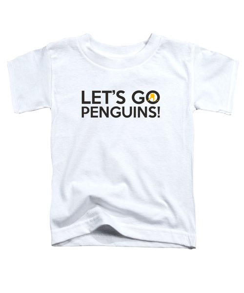 Let's Go Penguins Toddler T-Shirt by Florian Rodarte