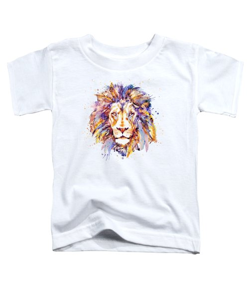 Lion Head Toddler T-Shirt by Marian Voicu