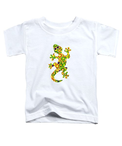 Little Lizard - Animal Art Toddler T-Shirt by Anastasiya Malakhova