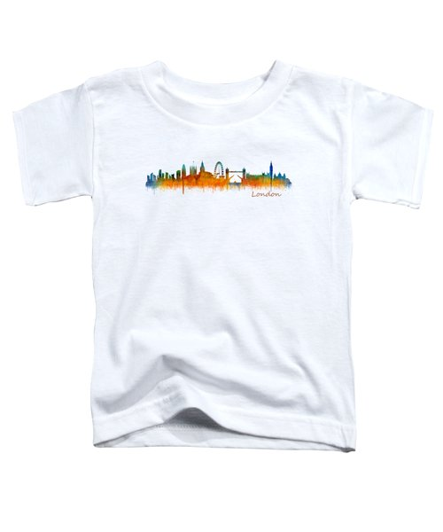 London City Skyline Hq V2 Toddler T-Shirt by HQ Photo