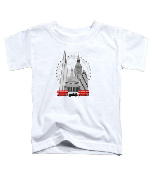 London Scene Toddler T-Shirt by Imagology Design