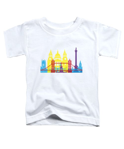 London Skyline Pop Toddler T-Shirt by Pablo Romero