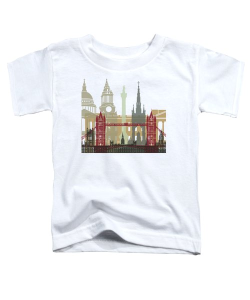 London Skyline Poster Toddler T-Shirt by Pablo Romero