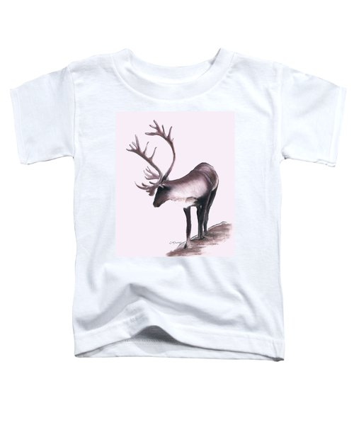 Lone Caribou Toddler T-Shirt by Jane M Lucas