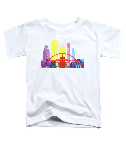 Los Angeles Skyline Pop Toddler T-Shirt by Pablo Romero