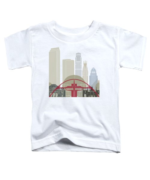 Los Angeles Skyline Poster Toddler T-Shirt by Pablo Romero