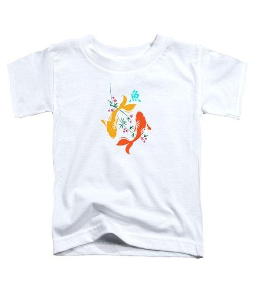 Lucky Koi Fish Toddler T-Shirt by Naviblue