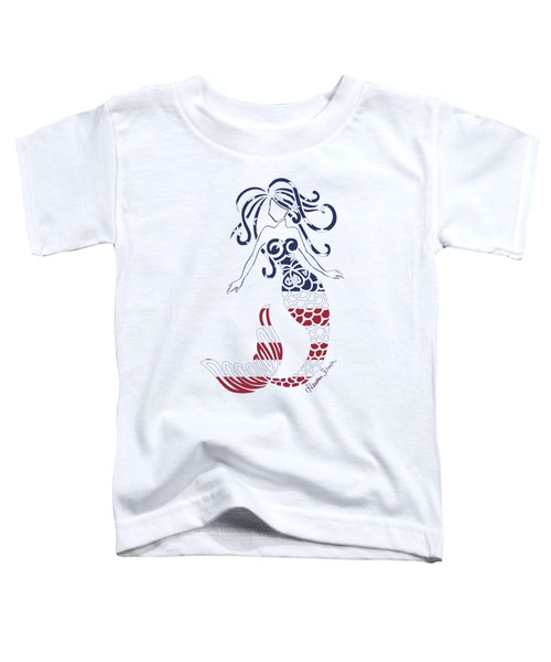 Made In The Usa Tribal Mermaid Toddler T-Shirt by Heather Schaefer