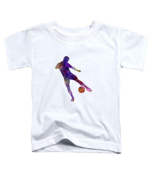 Man Soccer Football Player 02 Toddler T-Shirt by Pablo Romero