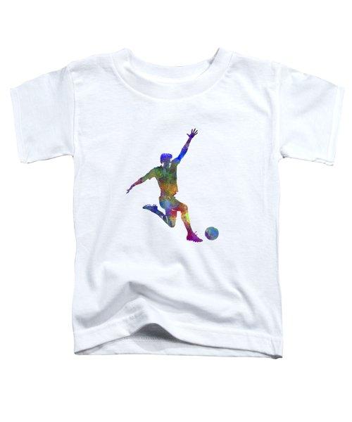 Man Soccer Football Player 05 Toddler T-Shirt by Pablo Romero