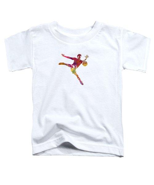 Man Soccer Football Player 08 Toddler T-Shirt by Pablo Romero