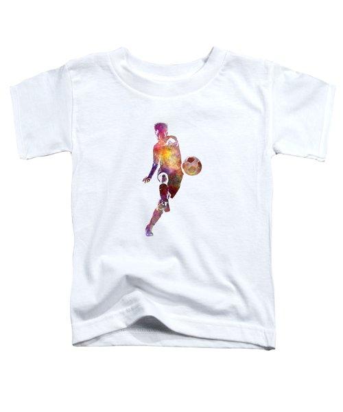 Man Soccer Football Player 10 Toddler T-Shirt by Pablo Romero