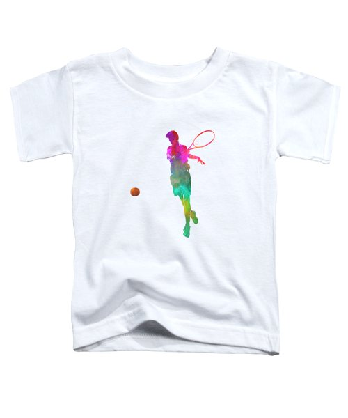 Man Tennis Player 01 In Watercolor Toddler T-Shirt by Pablo Romero