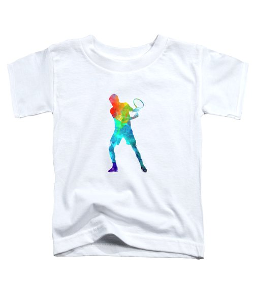 Man Tennis Player 02 In Watercolor Toddler T-Shirt by Pablo Romero