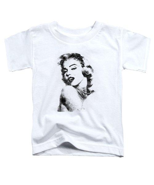 Marilyn Monroe Portrait 01 Toddler T-Shirt by Pablo Romero