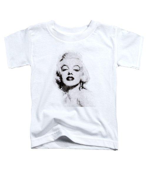 Marilyn Monroe Portrait 02 Toddler T-Shirt by Pablo Romero
