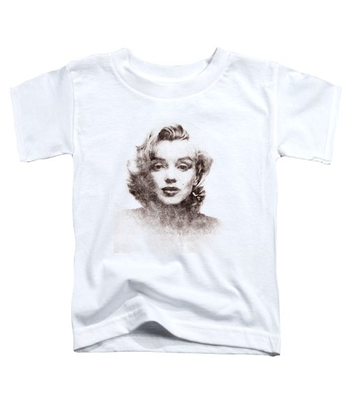 Marilyn Monroe Portrait 04 Toddler T-Shirt by Pablo Romero