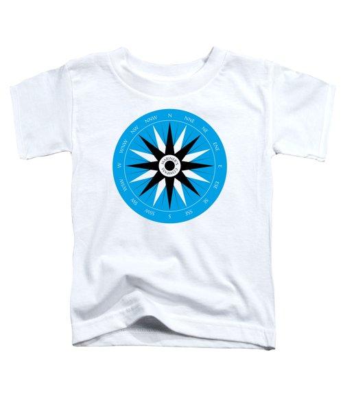 Mariner's Compass Toddler T-Shirt by Frank Tschakert