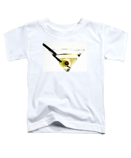 Martini With Green Olive Toddler T-Shirt by Sharon Cummings