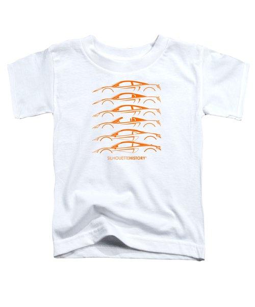 Mcsportscar Silhouettehistory Toddler T-Shirt by Gabor Vida