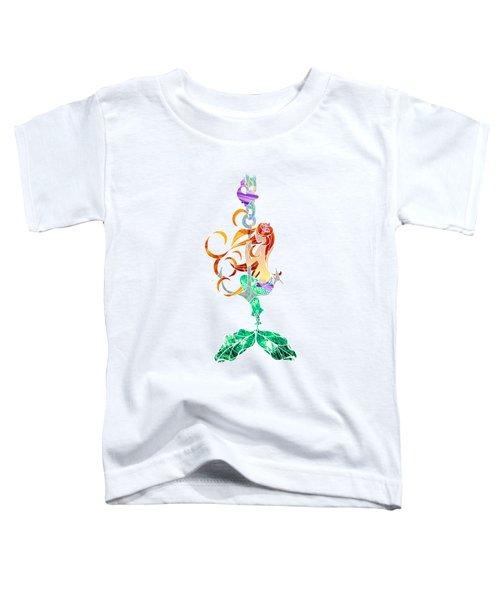 Mermaid Toddler T-Shirt by Aubrey Hittle