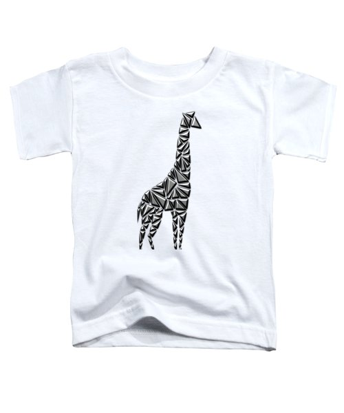 Metallic Giraffe Toddler T-Shirt by Chris Butler