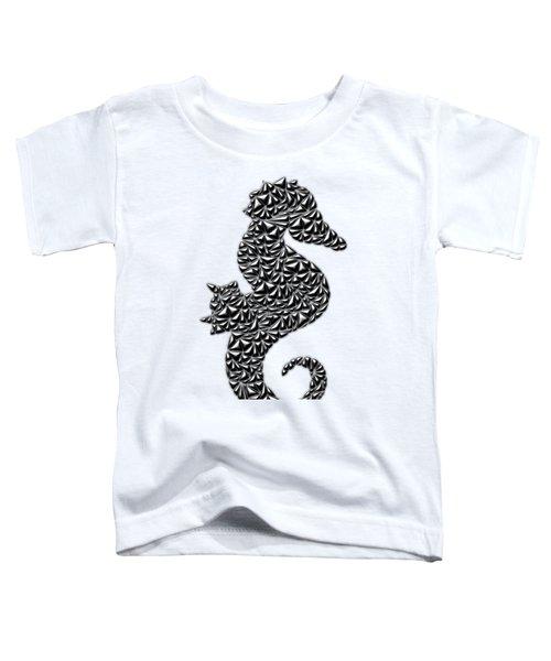 Metallic Seahorse Toddler T-Shirt by Chris Butler