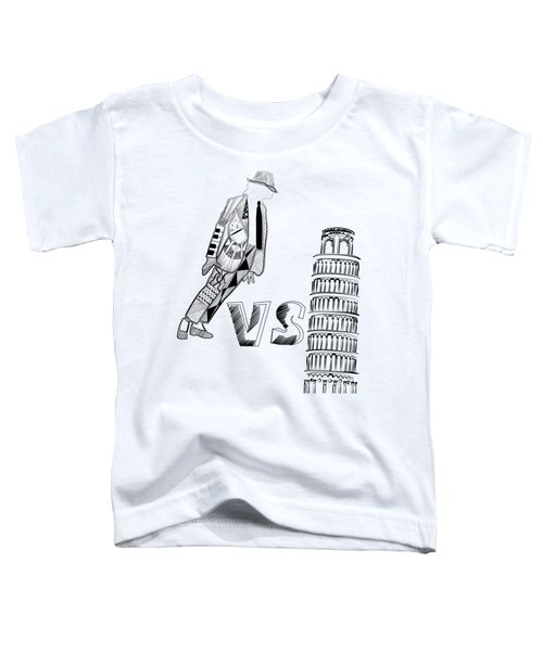 Mj Vs Pisa Toddler T-Shirt by Serkes Panda