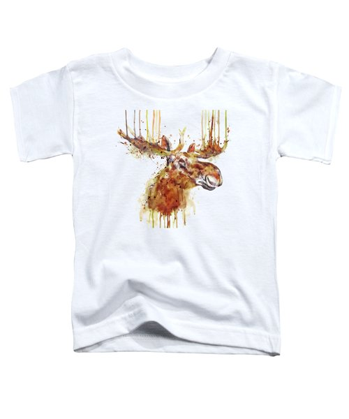 Moose Head Toddler T-Shirt by Marian Voicu