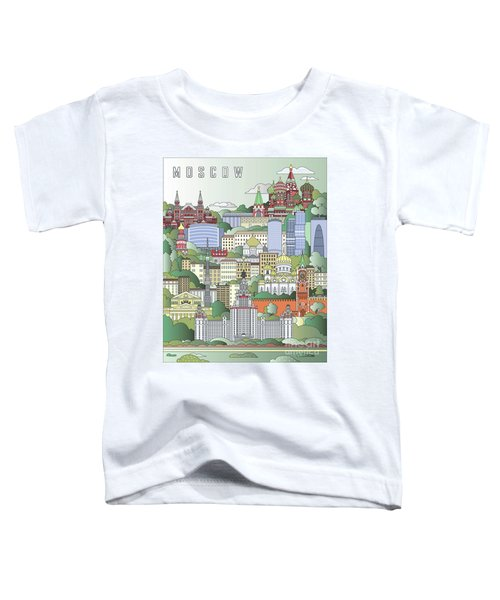 Moscow City Poster Toddler T-Shirt by Pablo Romero