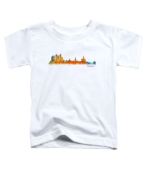 Moscow City Skyline Hq V2 Toddler T-Shirt by HQ Photo