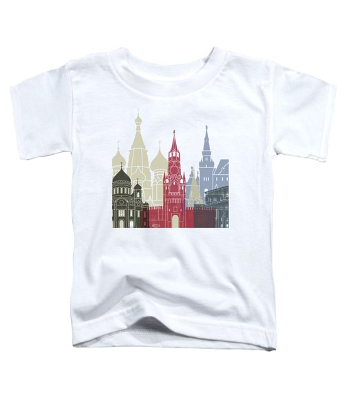 Moscow Skyline Poster Toddler T-Shirt by Pablo Romero