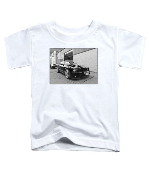 Mustang Alley In Black And White Toddler T-Shirt by Gill Billington
