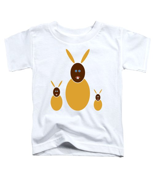 Mustard Bunnies Toddler T-Shirt by Frank Tschakert