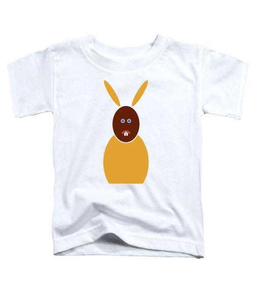 Mustard Bunny Toddler T-Shirt by Frank Tschakert