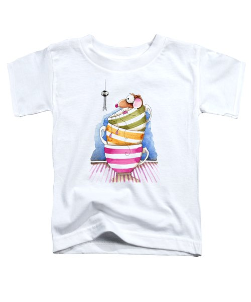 My Cup Of Tea Toddler T-Shirt by Lucia Stewart