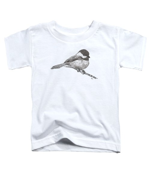 My Little Chickadee-dee-dee Toddler T-Shirt by Mary-Ellen Arsenault