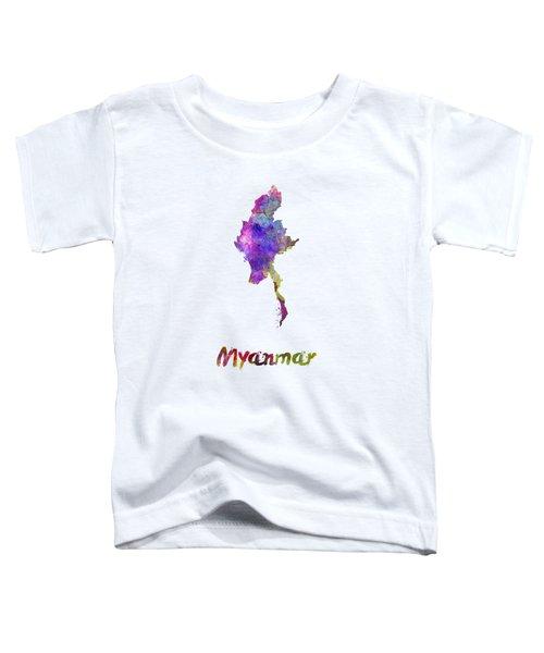 Myanmar In Watercolor Toddler T-Shirt by Pablo Romero