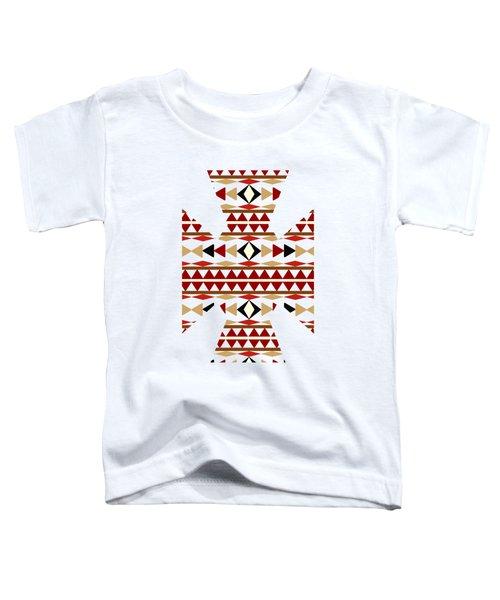 Navajo White Pattern Art Toddler T-Shirt by Christina Rollo