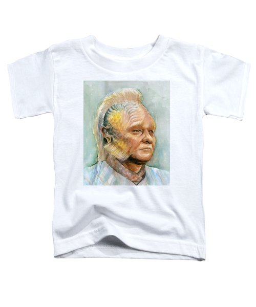 Neelix Star Trek Voyager Watercolor Toddler T-Shirt by Olga Shvartsur