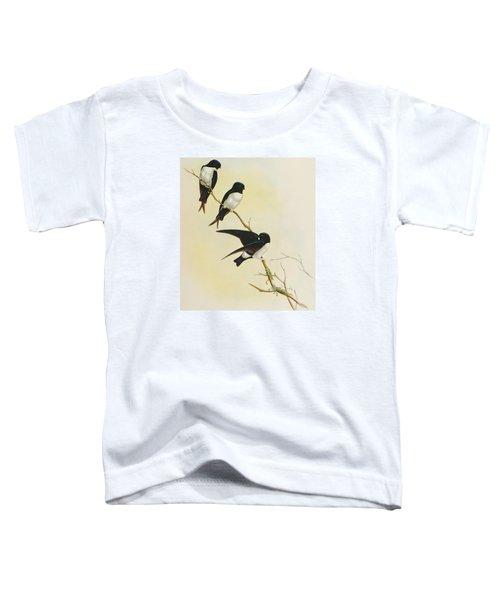Nepal House Martin Toddler T-Shirt by John Gould