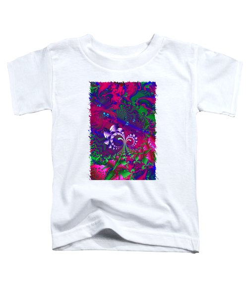 Nerd Berries Psychedelic Fractal Toddler T-Shirt by Sharon and Renee Lozen