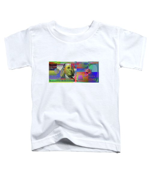 2009 Series Pop Art Colorized U. S. One Hundred Dollar Bill  V.3.0 Toddler T-Shirt by Serge Averbukh