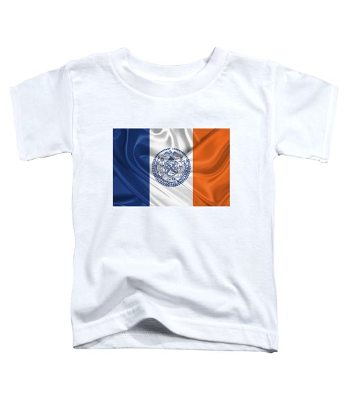 New York City - Nyc Flag Toddler T-Shirt by Serge Averbukh