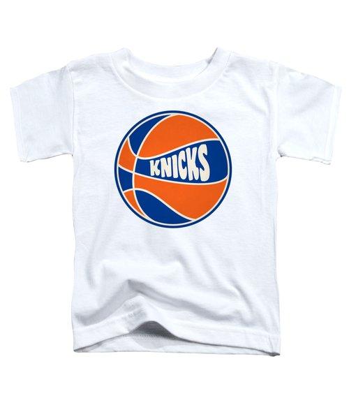 New York Knicks Retro Shirt Toddler T-Shirt by Joe Hamilton
