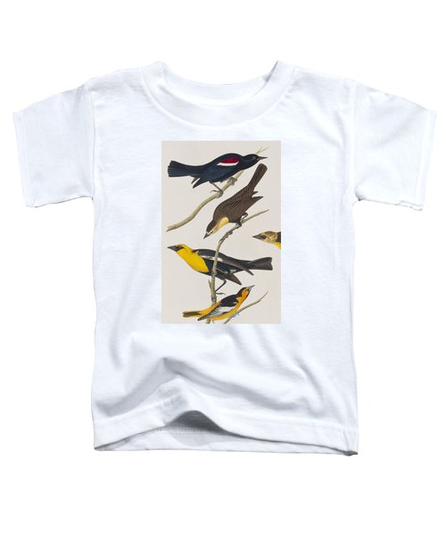 Nuttall's Starling Yellow-headed Troopial Bullock's Oriole Toddler T-Shirt by John James Audubon