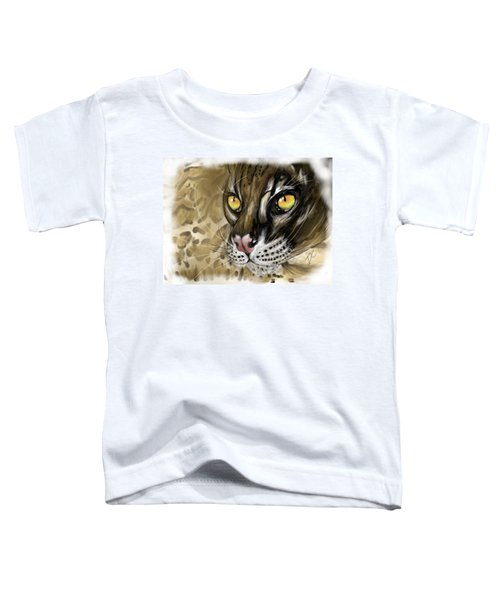 Ocelot Toddler T-Shirt by Darren Cannell